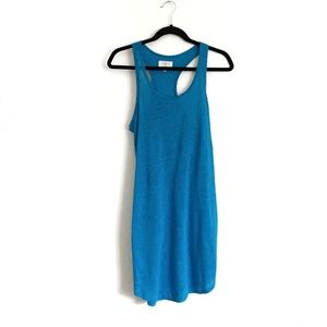 Lou & Grey Dresses - 2/$25 Lou & Grey Linen Racerback Tank Dress Blue S